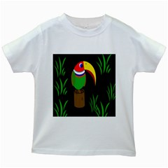 Toucan Kids White T Shirts