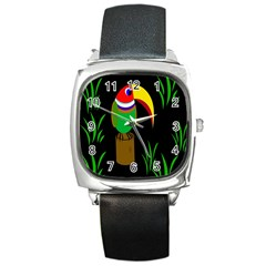 Toucan Square Metal Watch
