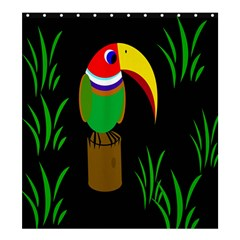 Toucan Shower Curtain 66  x 72  (Large)