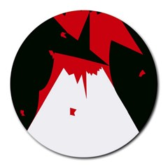 Volcano  Round Mousepads