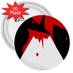 Volcano  3  Buttons (10 pack)