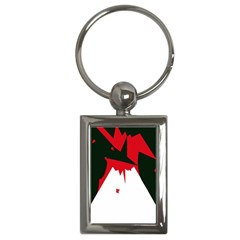Volcano  Key Chains (Rectangle)