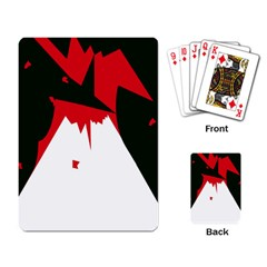 Volcano  Playing Card