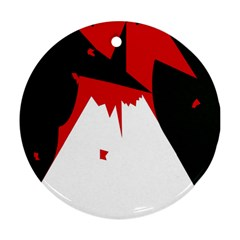 Volcano  Round Ornament (Two Sides)
