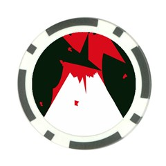 Volcano  Poker Chip Card Guards (10 pack)