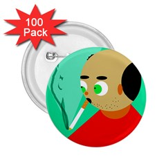 Smoker  2.25  Buttons (100 pack)