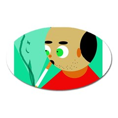 Smoker  Oval Magnet