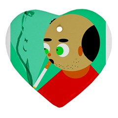 Smoker  Heart Ornament (2 Sides)