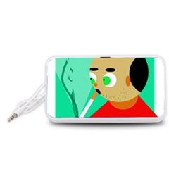 Smoker  Portable Speaker (White)