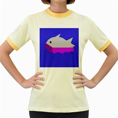 Big fish Women s Fitted Ringer T-Shirts
