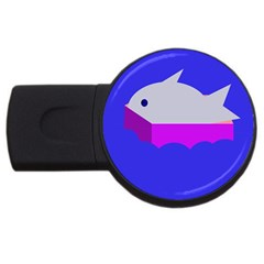 Big Fish Usb Flash Drive Round (4 Gb)