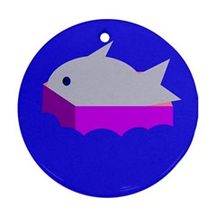 Big Fish Round Ornament (two Sides)
