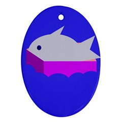 Big fish Oval Ornament (Two Sides)