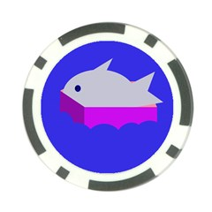 Big fish Poker Chip Card Guards (10 pack)