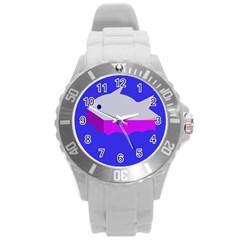 Big fish Round Plastic Sport Watch (L)