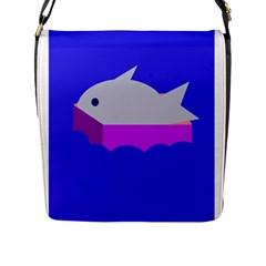Big fish Flap Messenger Bag (L)