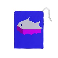 Big Fish Drawstring Pouches (medium)