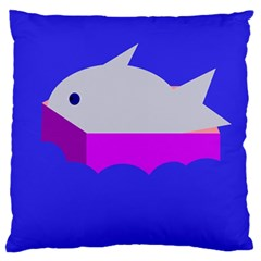 Big Fish Large Flano Cushion Case (one Side)