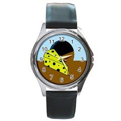 Cheese  Round Metal Watch