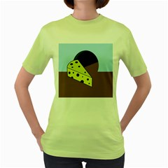 Cheese  Women s Green T Shirt