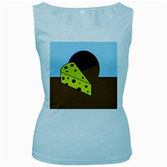Cheese  Women s Baby Blue Tank Top