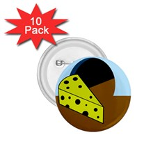 Cheese  1 75  Buttons (10 Pack)