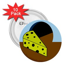 Cheese  2 25  Buttons (10 Pack)