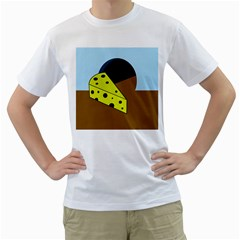 Cheese  Men s T-Shirt (White) (Two Sided)