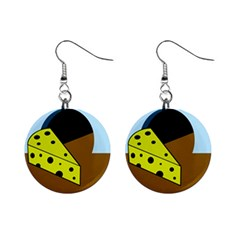 Cheese  Mini Button Earrings