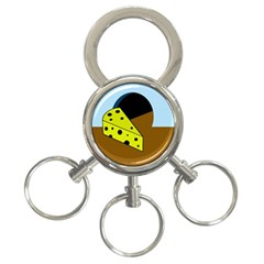 Cheese  3-Ring Key Chains