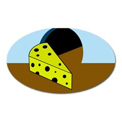 Cheese  Oval Magnet