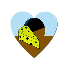 Cheese  Heart Magnet
