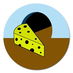 Cheese  Magnet 5  (round)