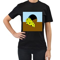 Cheese  Women s T-Shirt (Black) (Two Sided)