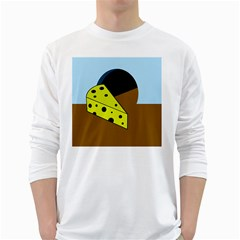 Cheese  White Long Sleeve T-Shirts