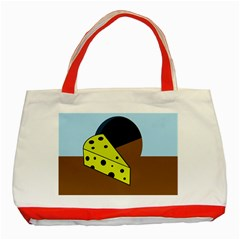 Cheese  Classic Tote Bag (Red)