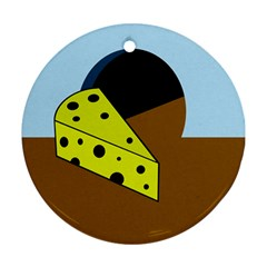 Cheese  Round Ornament (Two Sides)