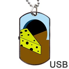 Cheese  Dog Tag USB Flash (Two Sides)