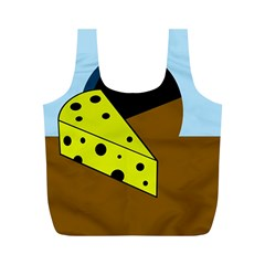 Cheese  Full Print Recycle Bags (M)