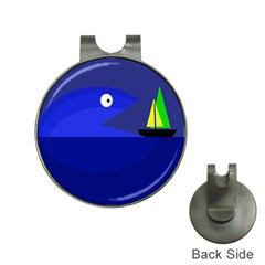 Blue monster fish Hat Clips with Golf Markers