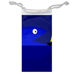 Blue monster fish Jewelry Bags