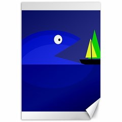 Blue monster fish Canvas 24  x 36