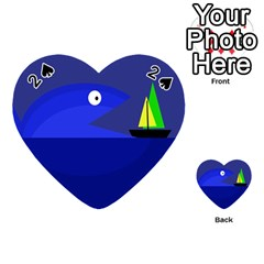 Blue monster fish Playing Cards 54 (Heart)