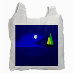 Blue monster fish Recycle Bag (Two Side)