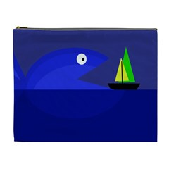 Blue monster fish Cosmetic Bag (XL)