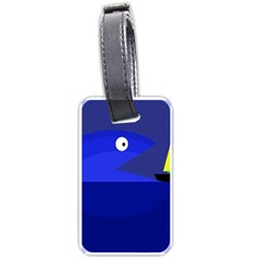 Blue monster fish Luggage Tags (One Side)