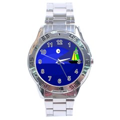 Blue monster fish Stainless Steel Analogue Watch