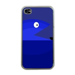 Blue monster fish Apple iPhone 4 Case (Clear)