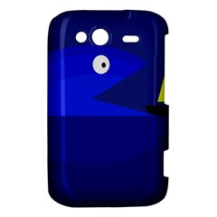 Blue monster fish HTC Wildfire S A510e Hardshell Case