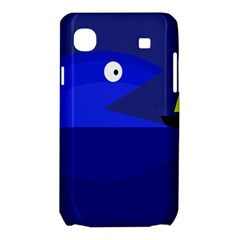Blue monster fish Samsung Galaxy SL i9003 Hardshell Case